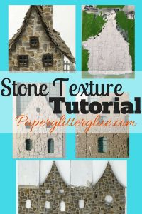 Stone Texture tutorial - use texture paste and paint to mimic stone on your paper crafts #craft #papercraft #tutorial