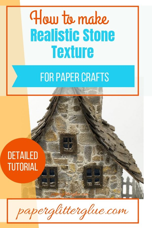 Stone texture tutorial for your paper crafts - make realistic looking stone