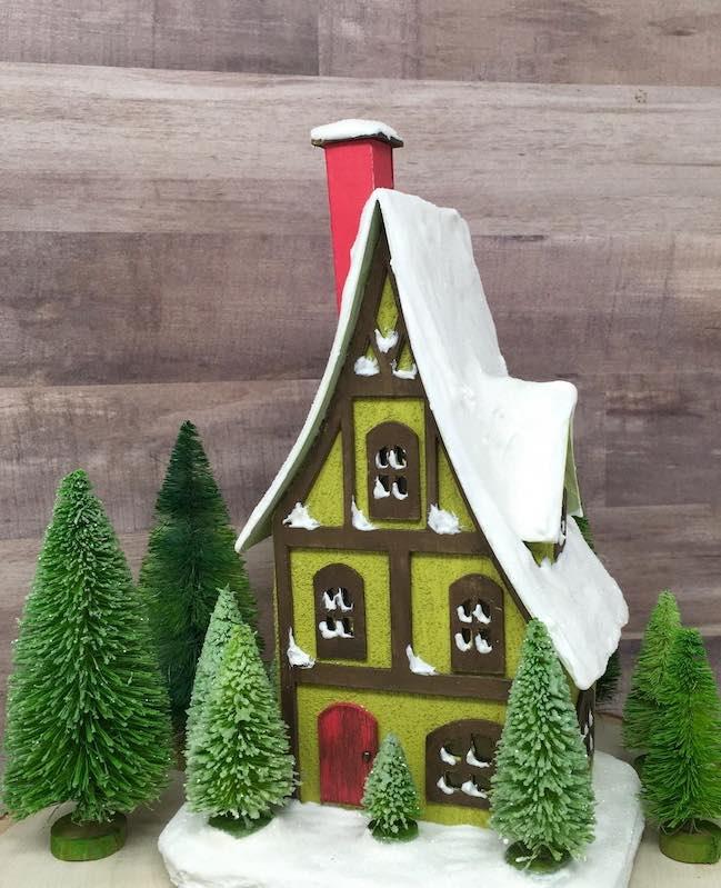 Storybook Cottage in bottlebrush tree forest