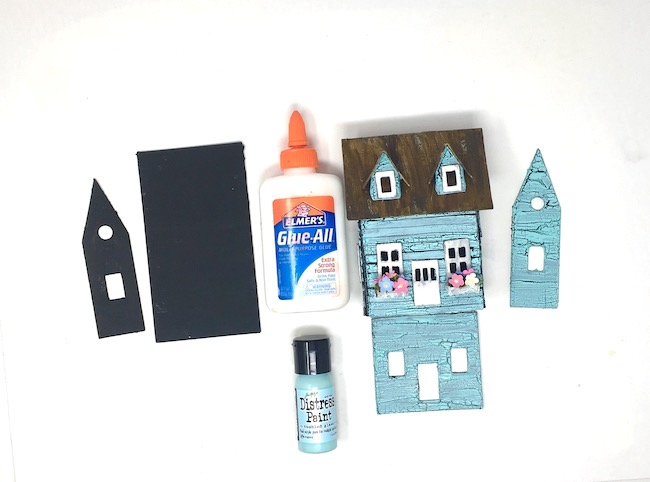 Supplies for easy DIY crackle paint