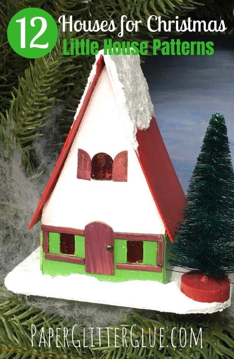 Swiss Chalet 12 Houses for Christmas paper houses