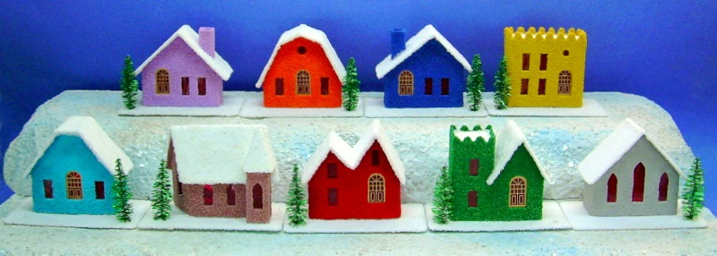 Reproduction Vintage Putz Houses by Howard Lamey