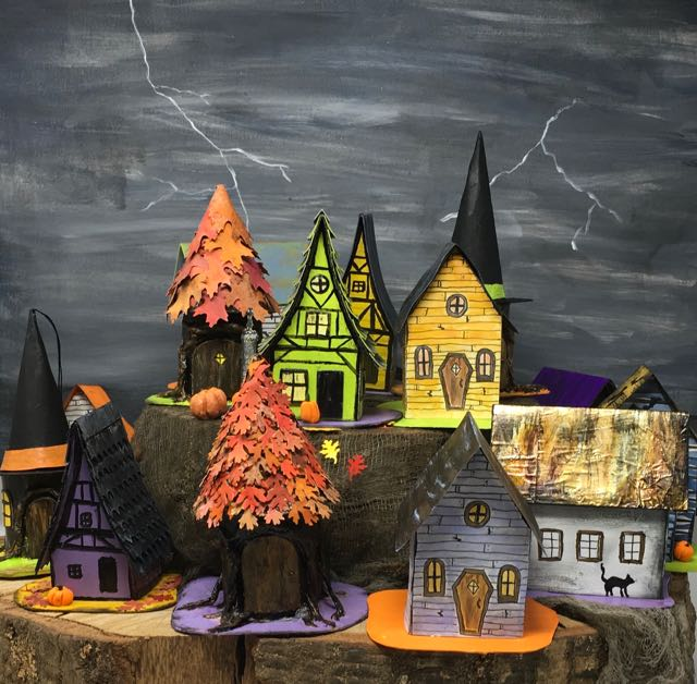 The Halloween Paper Village is growing