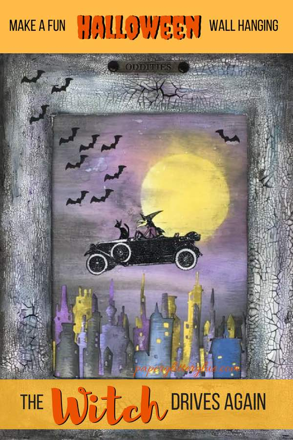 The Witch Drives Again Halloween Decoration #papercraft #halloween #timholtz