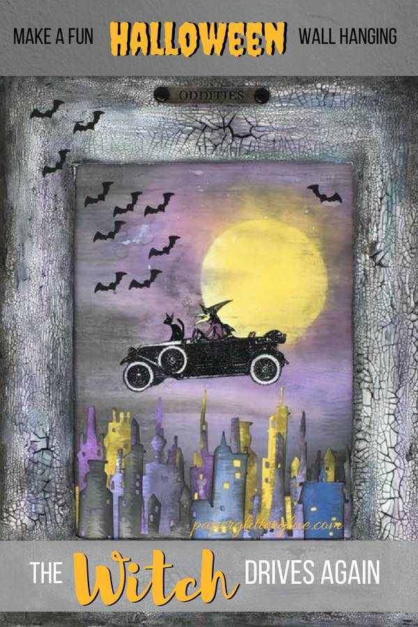 The Witch Drives Again Halloween Decoration #halloween #papercraft #timholtz