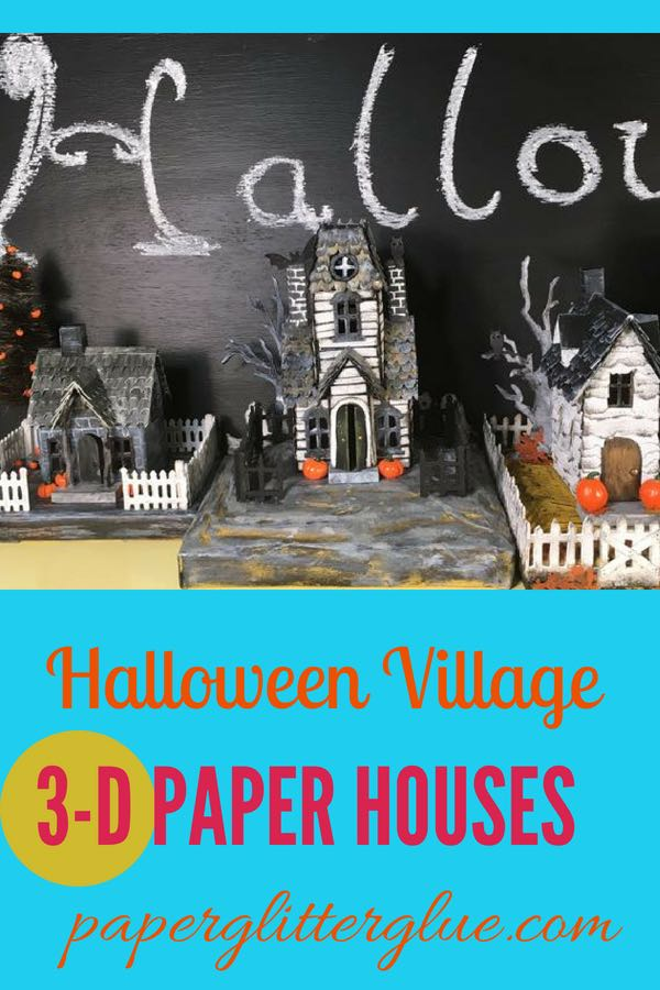 Tim Holtz Village Manor paper houses