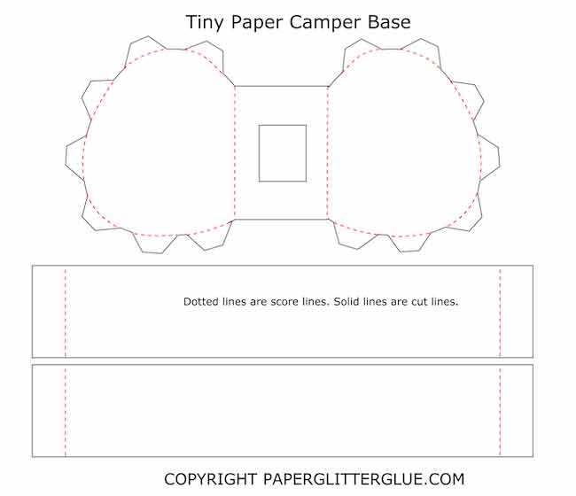 Tiny Paper Camper base pattern template