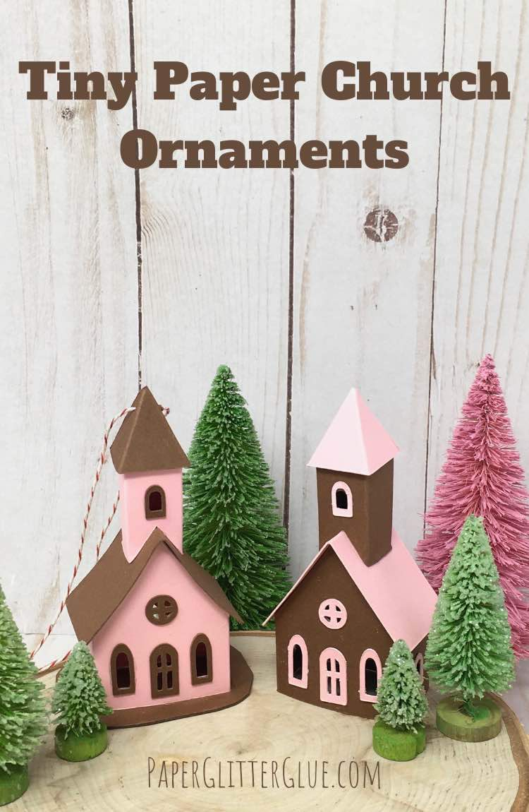 Tiny Paper Church Ornaments