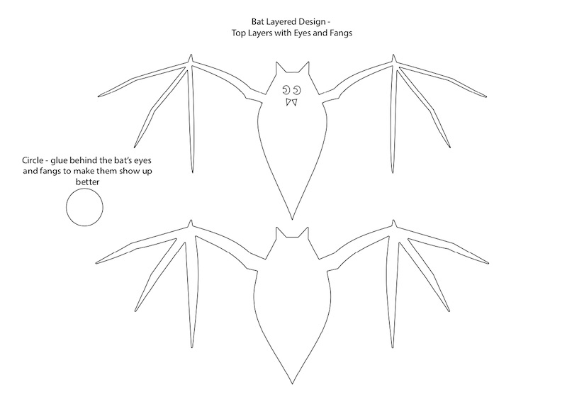 Top 2 bat layers for the easy bat garland