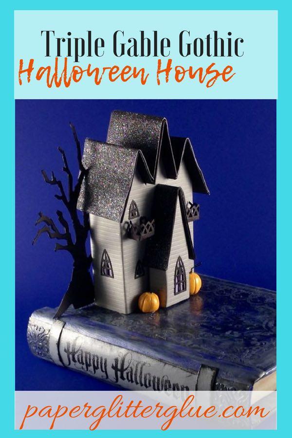 Triple Gable Gothic Halloween House