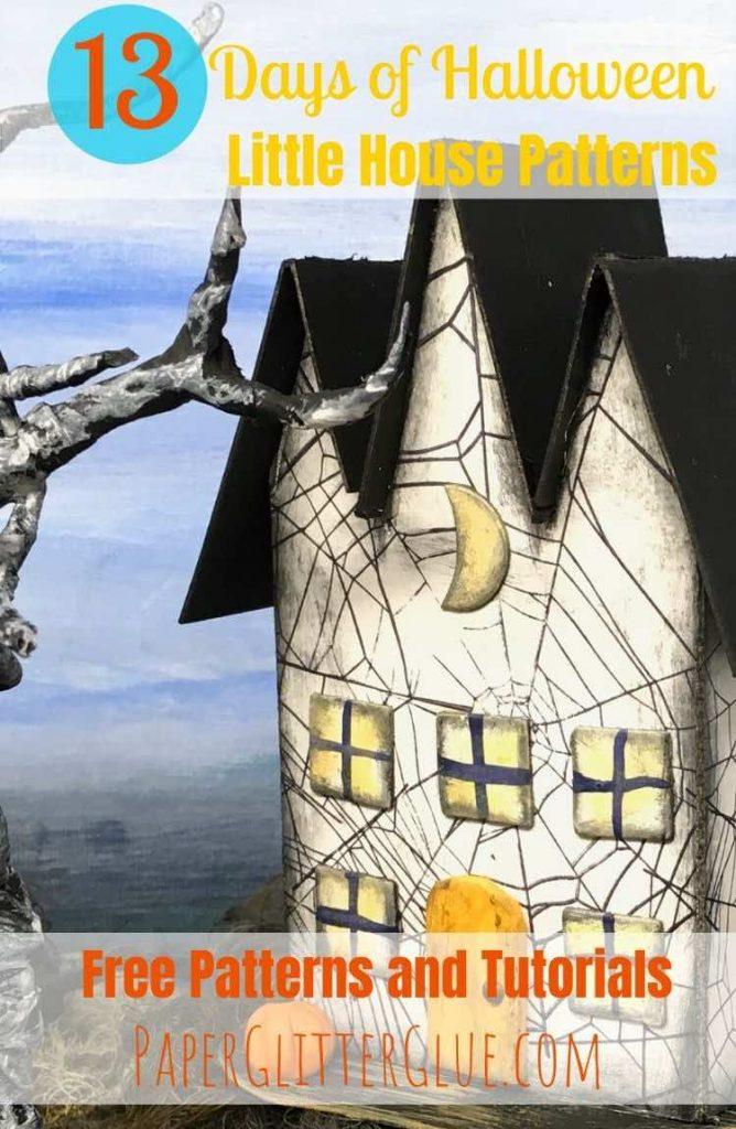 Triple Gable Gothic miniature Halloween house tutorial