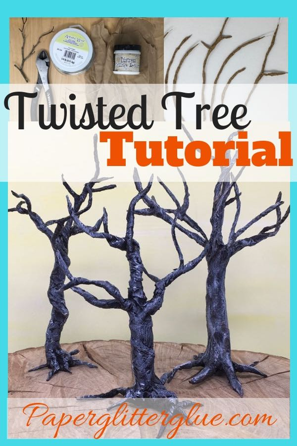 Twisted Tree Tutorial made of wire and paper #halloweencrafts #halloweendecor #papercrafts