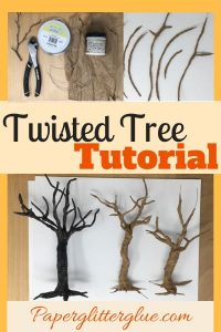Miniature paper mache and wire twisted tree tutorial #papermache #halloweentree #miniaturewiretree #halloweendecor