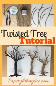 Twisted Tree Tutorial paper mache wire tree