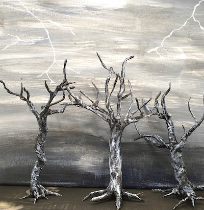 Twisted Trees for Halloween decor
