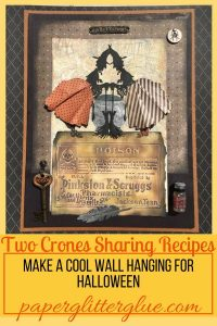 Two Crones Sharing Recipes Wallhanging