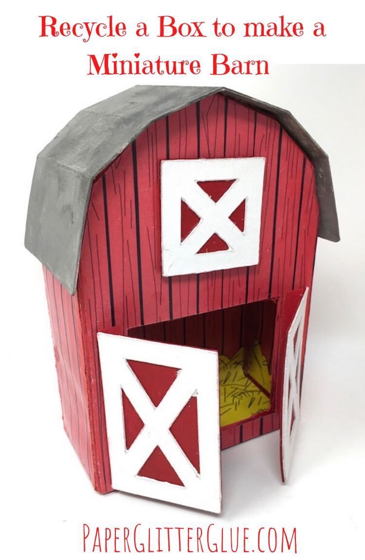 Use a Recycled Box to make a Barn for Kids