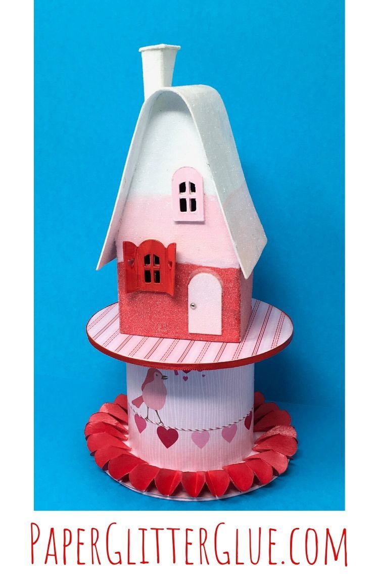 Valentine Candy Corn House pattern and tutorial