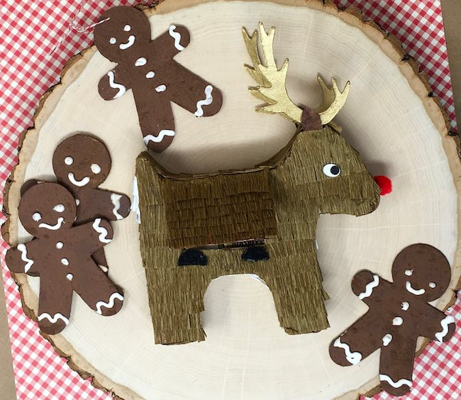 Velcro dots for flap on reindeer favor box