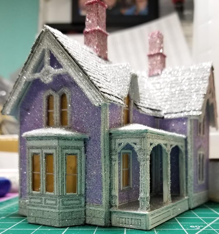 Victorian House from Cut and Assemble house book