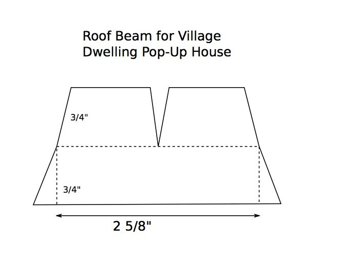 Village Dwelling Roof beam paper pattern