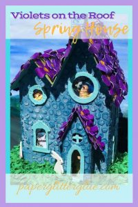 Violets on the Roof little house pin