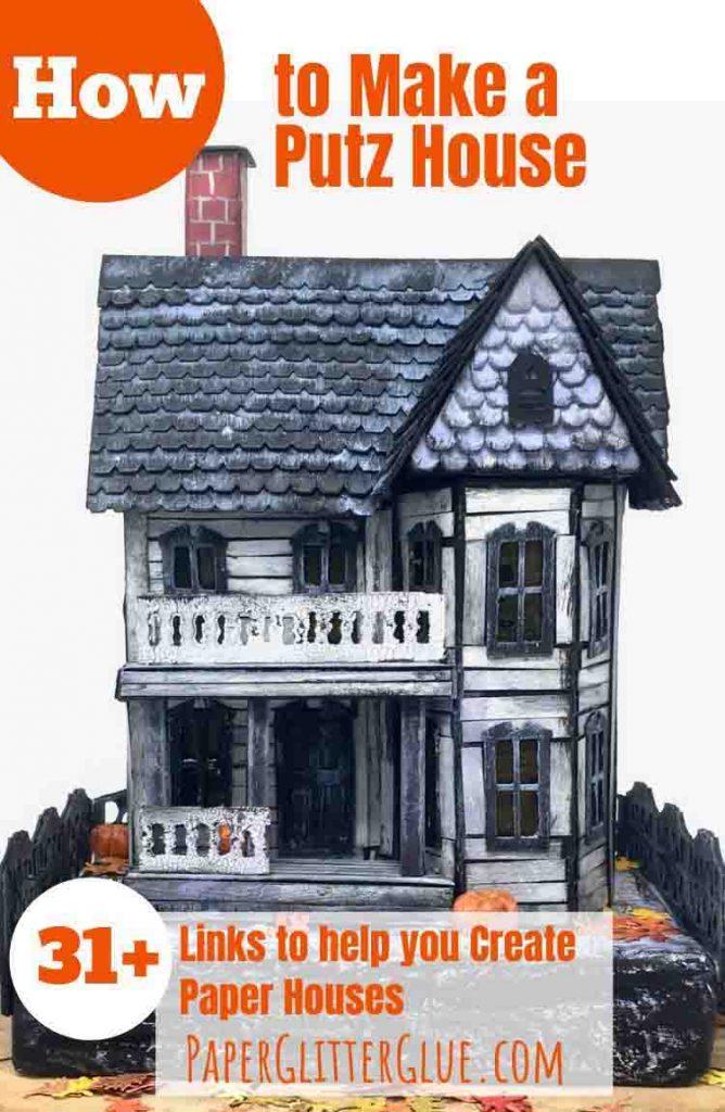 Halloween house putz house