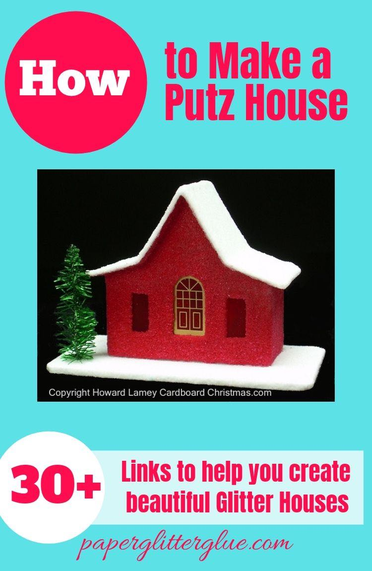 What is a Putz House? Ten Cent City glitter house