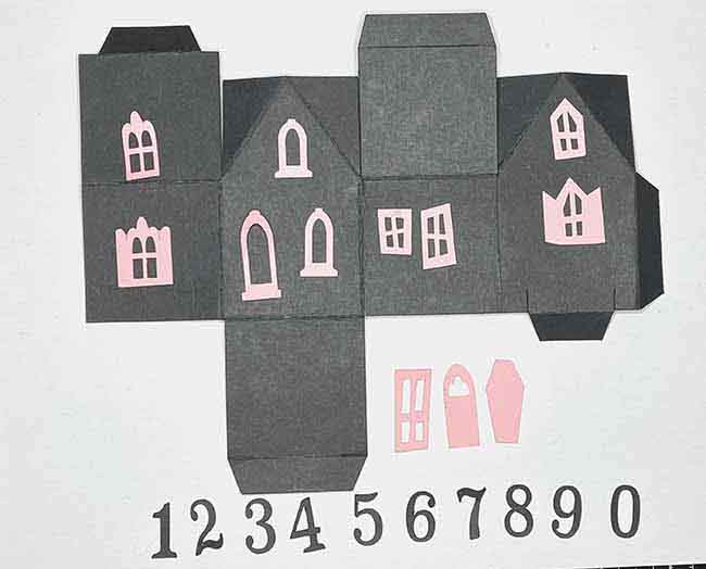 Window and door options for paper house box