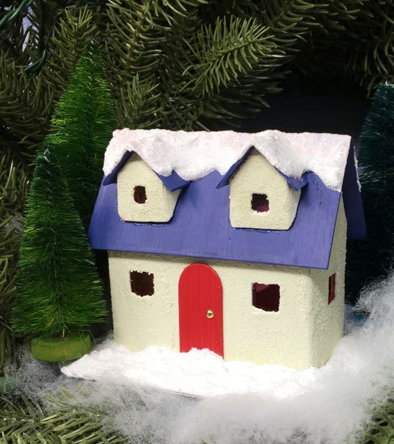 Winter Cottage Christmas Putz House for Christmas house series