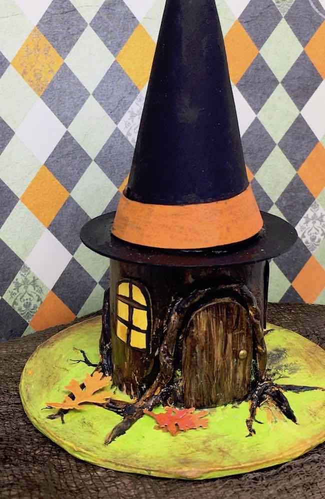 Witch Hat Tree Stump house