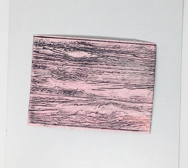 Wood embossed pink paper siding for paper house