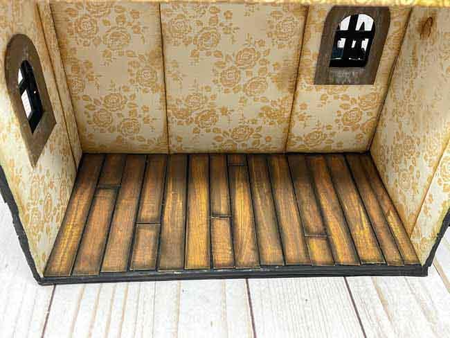 Wood floor applied to first floor