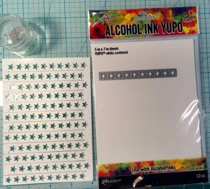 DIY stencil done on Yupo waterproof paper for my paper crafts #DIYstencil ##stenciltips #howtomakestencil