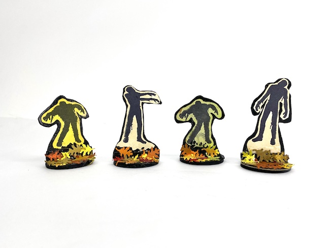 Zombie figures for a Halloween house