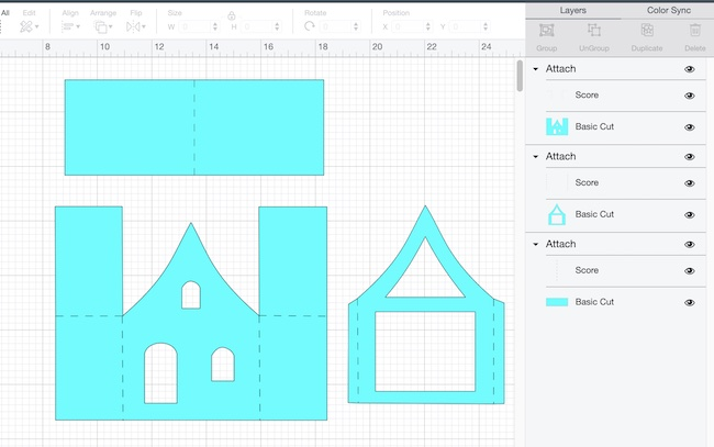 base house pattern in Cricut Design Space