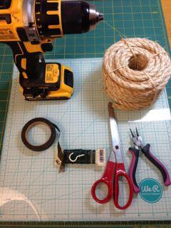 craft supplies to make a bottle brush tree