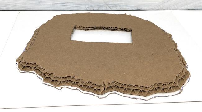 bottom layer double wall cardboard for beach house base