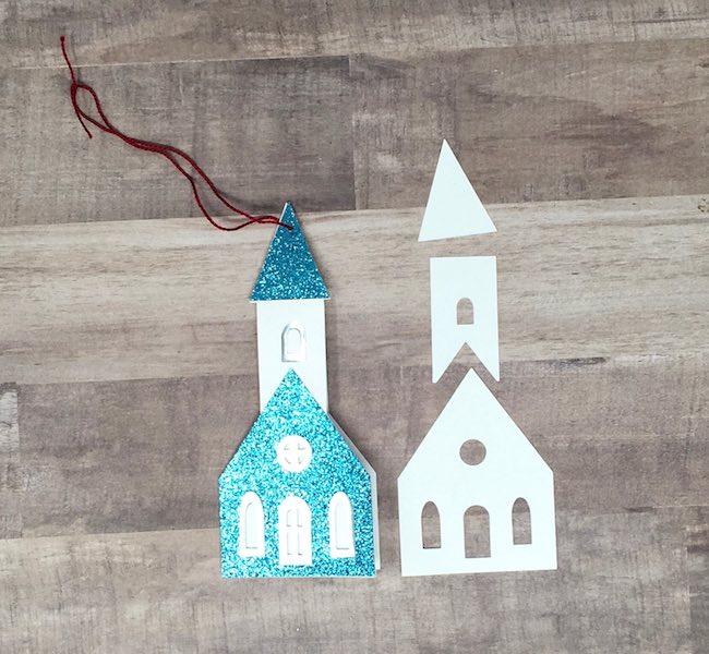 build up the little church card