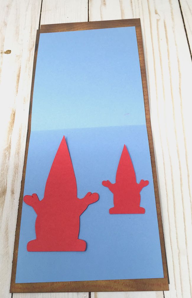 card stock gnome shape