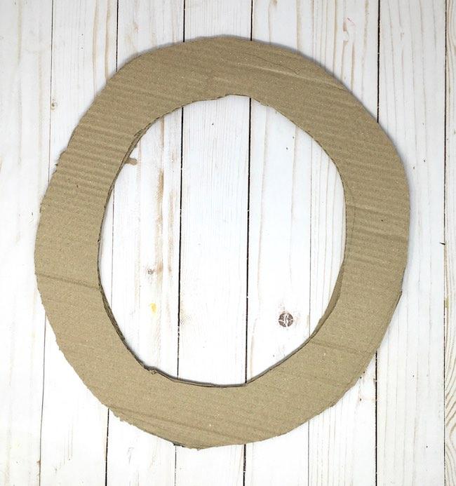 cardboard for leafy wreath