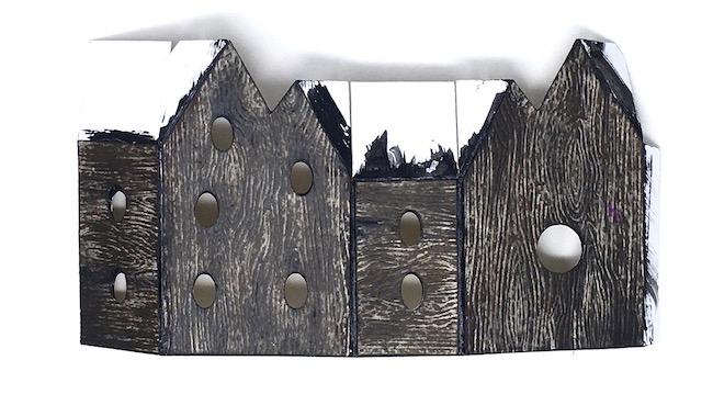 darker wood texture on fairy house