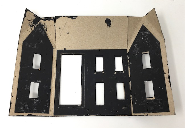 extra cardboard support layers spooky little halloween house