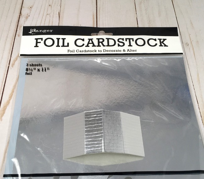 foil cardstock for tiny paper barn roof
