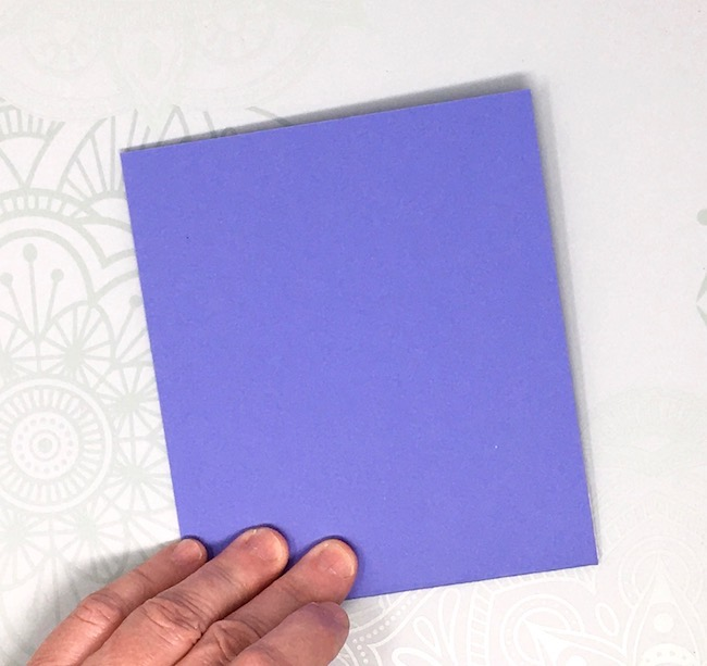 fold the card to make sure the glue fold is in place