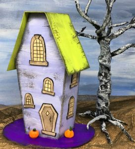 front coffin house halloween paper house #halloweenvillage #halloweencrafts #diyhalloween