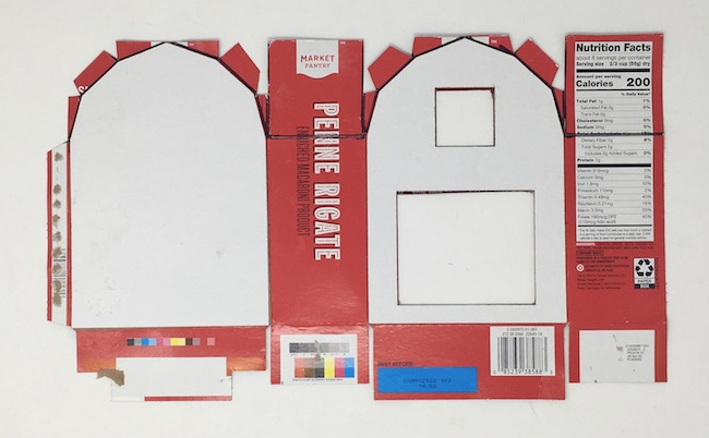 glue barn template to reinforce box