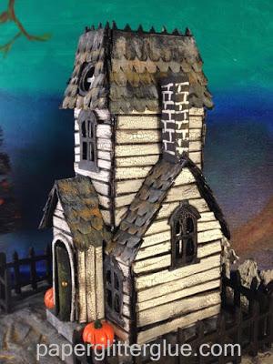 Halloween village dwelling haunted village manor cardboard house