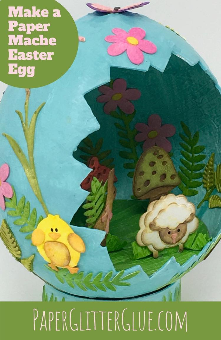 how to make adorable paper mache egg