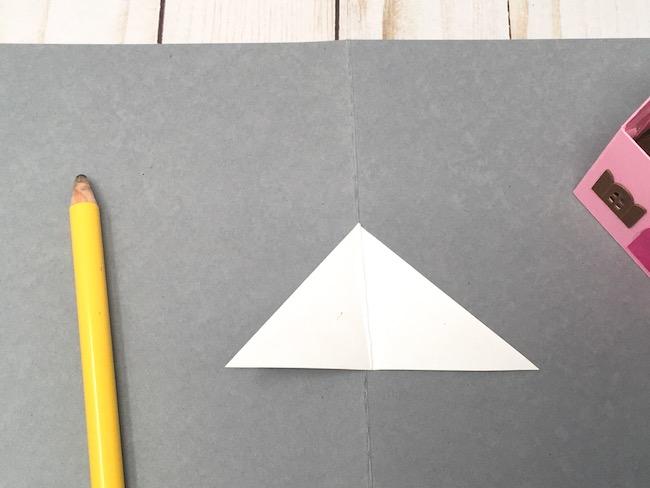 measure 90 degree angle along fold line